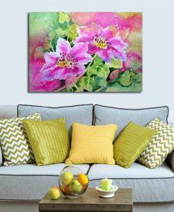 dekoracja do sypialni z kwiatami