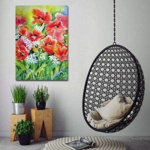 obrazy kwiaty maki