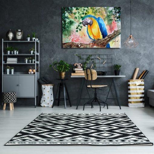 obraz tropikalny ptak