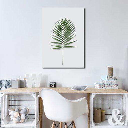 Obraz z liściem do salonu