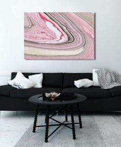 Obraz kolorowym marmurem
