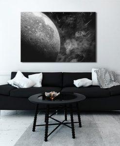 kosmos czarno-biały