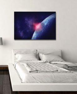 sypialnia z kosmosem