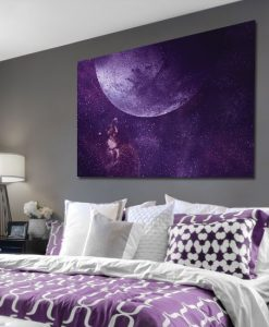 fioletowy obraz z kosmosem