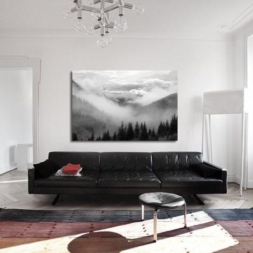 górski krajobraz do sypialni