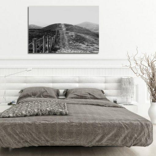 obraz biało-czarny do sypialni