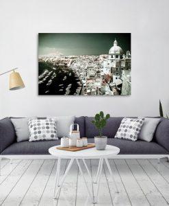 obraz z widokiem na włoskie miasto