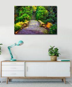 obrazy z ogrodami