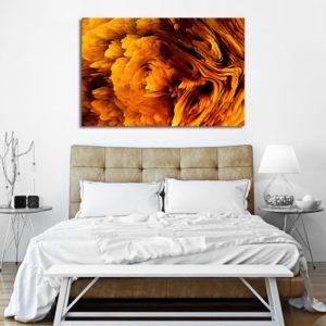 obrazy żółte i pomarańczowe