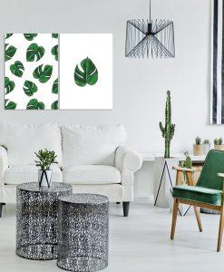 dekoracje z liśćmi