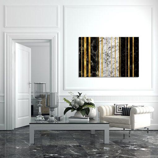 obraz poziomy w salonie