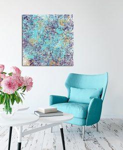 niebiesko-fioletowy obraz