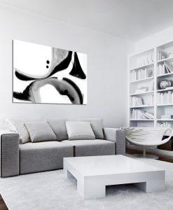 biało-czarny obraz z motywem farby