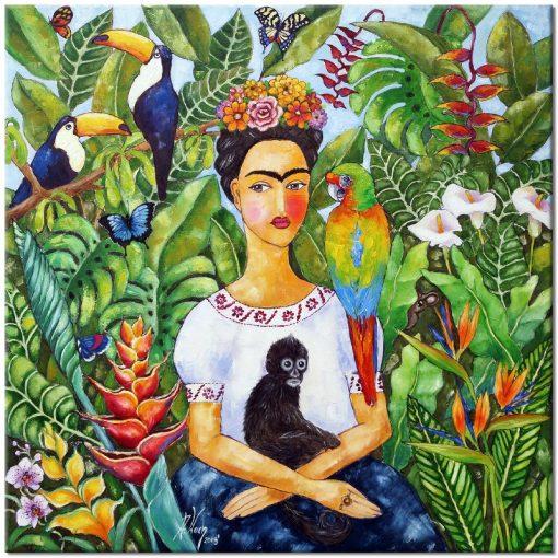 obraz z portretem Fridy Kahlo