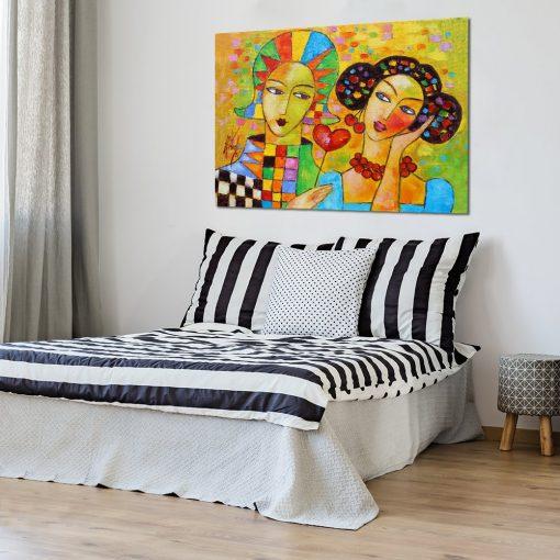 kolorowe obrazy do sypialni
