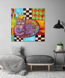 obraz jak malowany z królem kotem