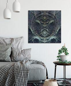 ciermny i kwadratowy obraz do pokoju