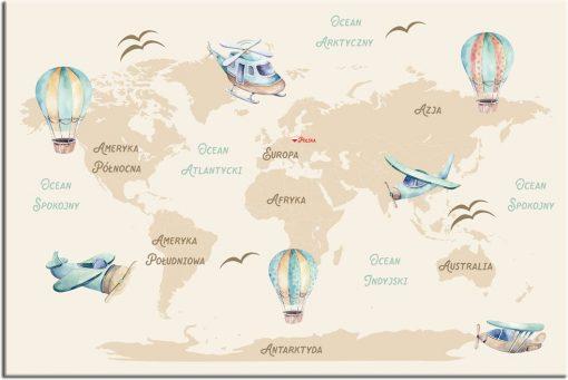 mapa świata jako obraz