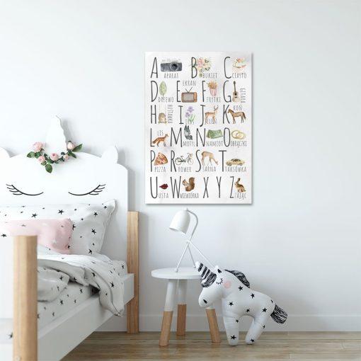 literki na obrazie dla dzieci
