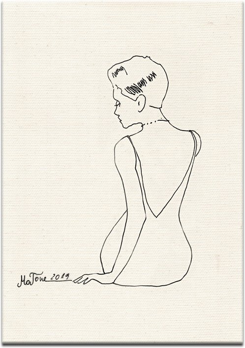 siedząca kobieta jako obraz