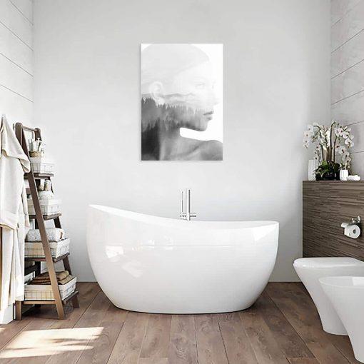 Szary obraz do łazienki