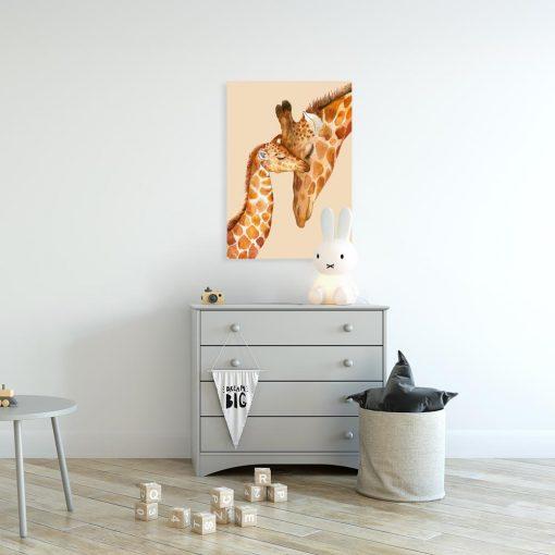 Pomarańczowy obraz do pokoju dziecięcego