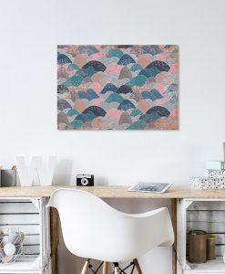 Brązowo-niebieski obraz do biura