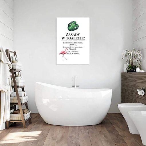 Tropikalny obraz zasady w toalecie