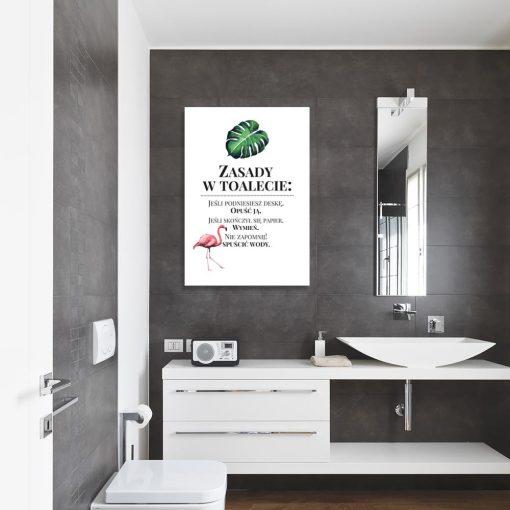 Obraz zasady w toalecie