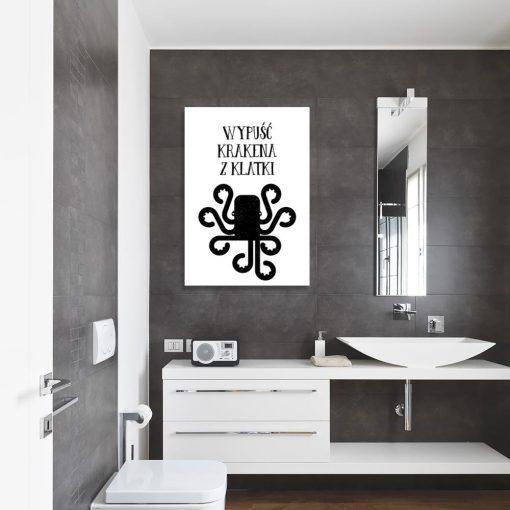Obraz zabawny napis do toalety