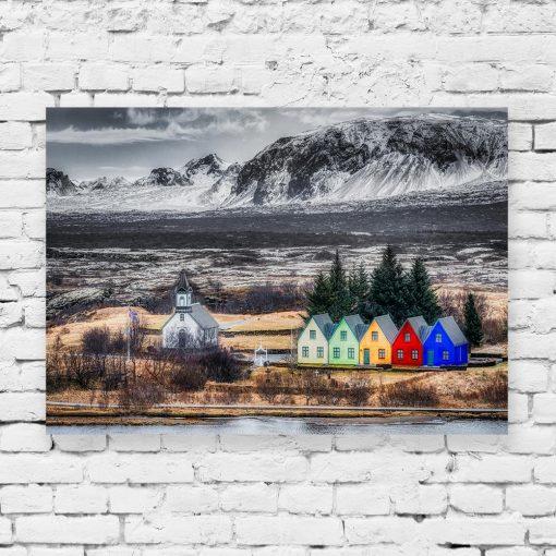 Obraz kolorowe domki