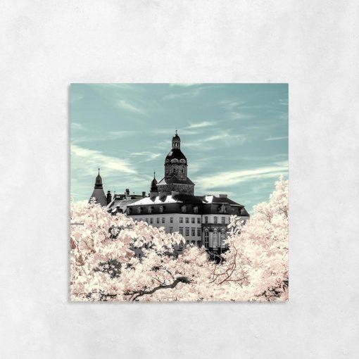 Obraz kwadratowy z zamkiem