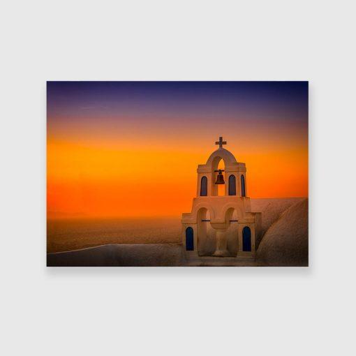 Obraz z dzwonnicą w Santorini