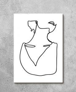 Obraz kobiece obojczyki
