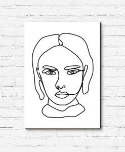 Obraz minimalistyczny z kobietą