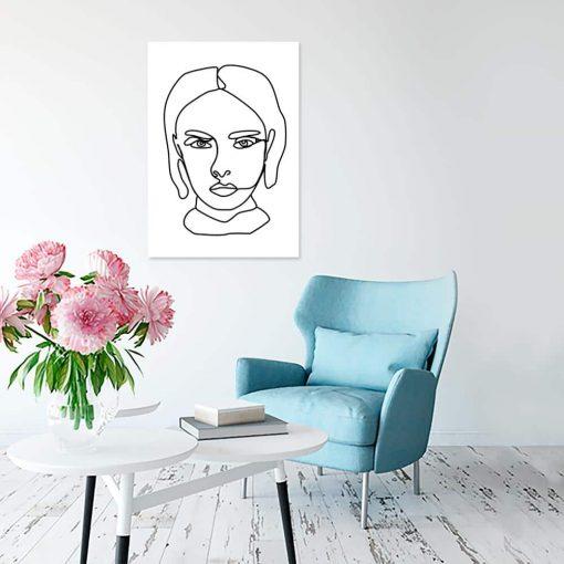 Obraz szkic głowy kobiety