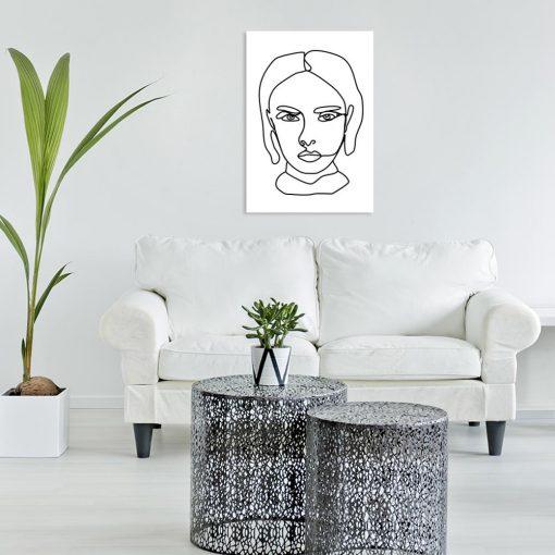 Obraz kobieta na portrecie