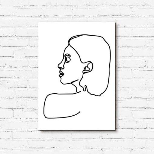 Obraz z rysunkiem kobiety