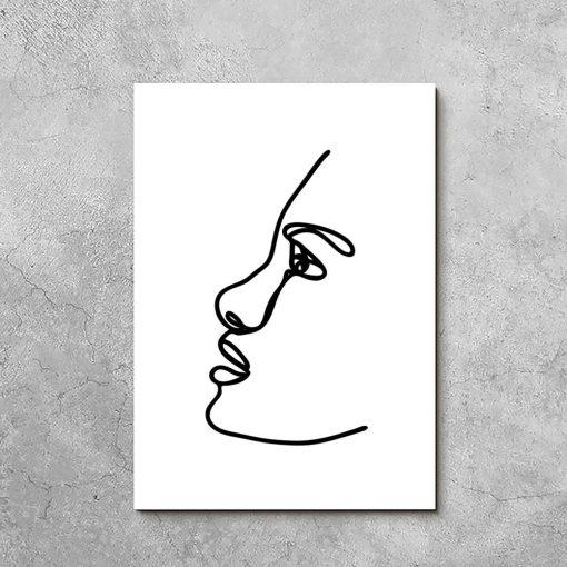 Obraz minimalistyczny szkic