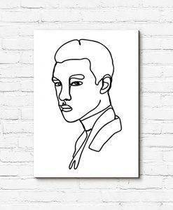 Obraz z portretem mężczyzny