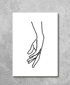 Obraz kobieca dłoń