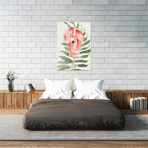 Obraz różowy flaming