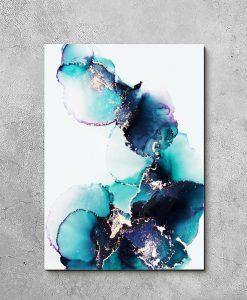 Obraz akwarelowa abstrakcja