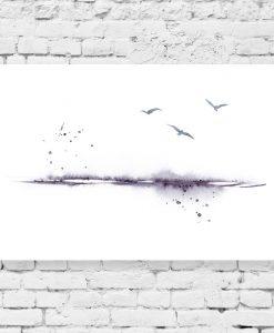 Obraz minimalistyczny z krajobrazem