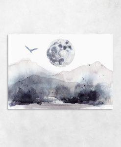 Obraz akwarelowe góry