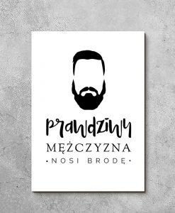 obraz prawdziwy mężczyzna nosi brodę