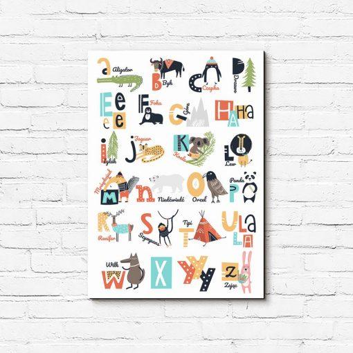 obraz zwierzęta i alfabet