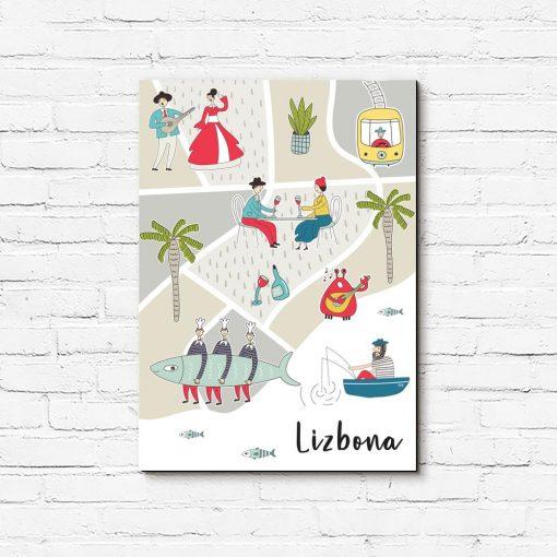 obraz mapa lizbony