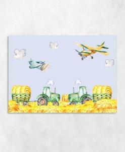 traktory na obrazie na ścianę