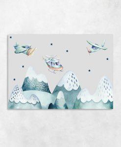 obraz z górami